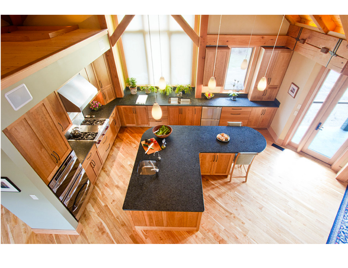 image of kitchen island linking to testimonials