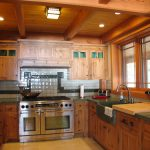 Mission Style Kitchen in a Post and Beam Home1
