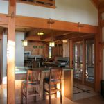 Mission Style Kitchen in a Post and Beam Home4